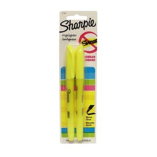 Sharpie Smear-resistant Yellow Highlighter (Set of 2)