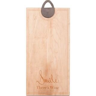 "J.K. Adams Sandgate ""Smile: There's Wine"" Maple Presentation Cutting Board"
