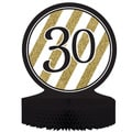 Black and Gold '30' Centerpiece (Pack of 6)