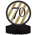 Black and Gold '70' Centerpieces (Pack of 6)