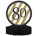Black & Gold '80' Centerpiece (Pack of 6)