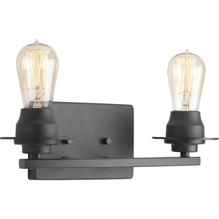 Debut Grey Steel 2-light Bath Fixture