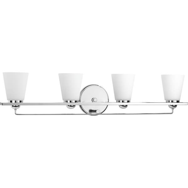 Flight Collection 4 Light Polished Chrome Etched Glass Coastal Bath Vanity Light Overstock 14515245
