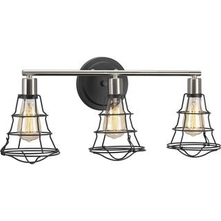 Progress Lighting Grey Steel Gauge Three-light Bath