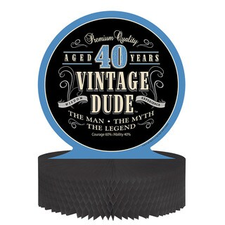 Vintage Dude 40th Centerpieces (Pack of 6)