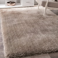 nuLOOM Causual Solid Soft and Plush Beige Shag Rug - 7'6 x 9'6