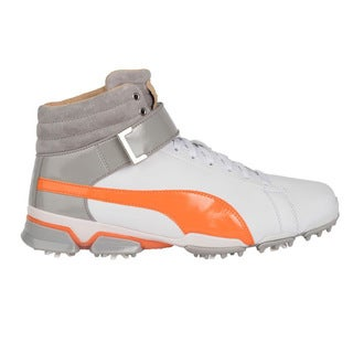 PUMA Titantour Ignite Hi-Top Special Edition Golf Shoes White/Vibrant Orange