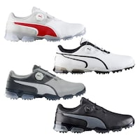 Shop PUMA Titantour Ignite Golf Shoes - Black Black Beetroot Purple ... 55cca23d4