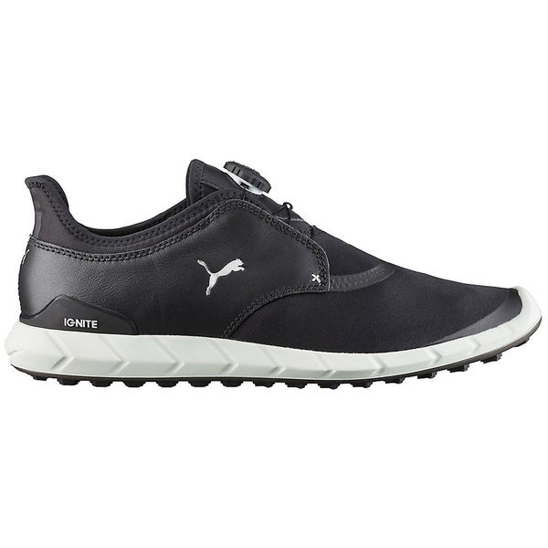 PUMA Ignite Sport Disc Spikeless Golf Shoes  Black/Silver