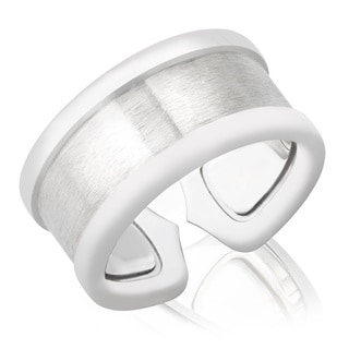 Pre-owned Cartier Logo 18k White Gold Double C Ring (Size 6.5)