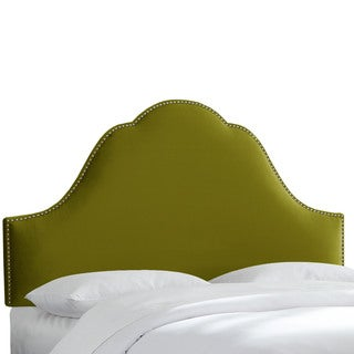 Nail Button Velvet Upholstered Headboard- Skyline Furniture
