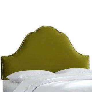 Nail Button Velvet Upholstered Headboard- Skyline Furniture
