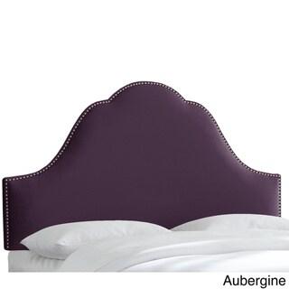 Skyline Furniture Nail Button Velvet Upholstered Headboard