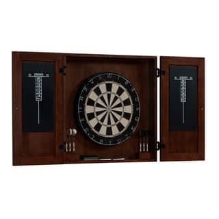 Turin Brown Wood and Steel Dart Board Cabinet Set|https://ak1.ostkcdn.com/images/products/14516400/P21071373.jpg?impolicy=medium