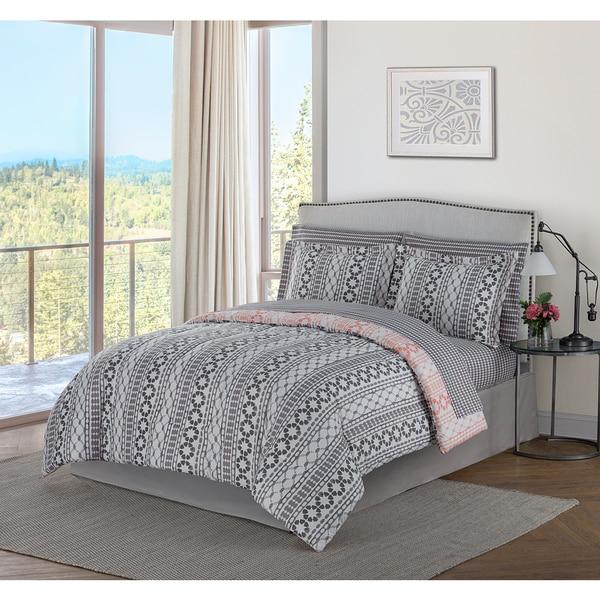 style decor brenda 8 piece bed in a bag bedding set - Bedding In A Bag