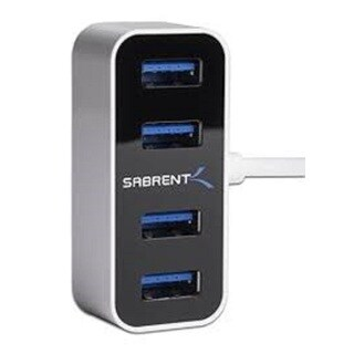 Sabrent HB-MNBW 4-port Mini Portable The World's Smallest USB 3.0 Hub with 2-foot Cable