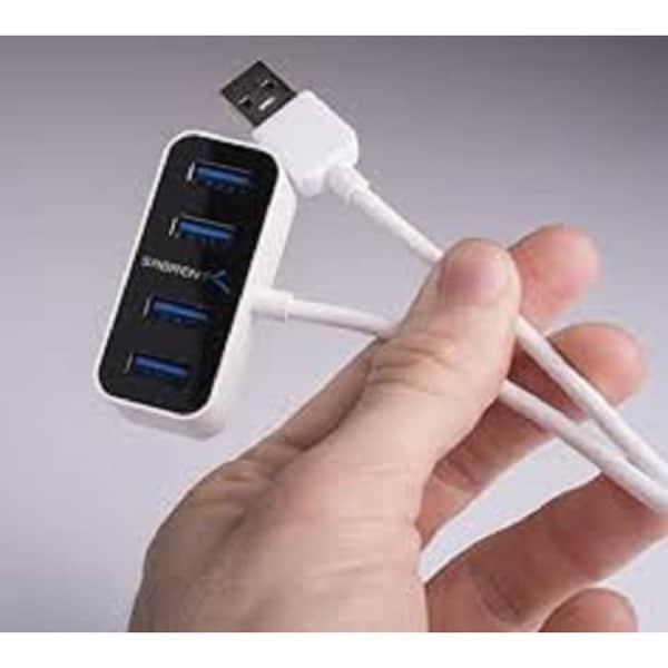 the World/'s Smallest USB 3.0 Hub 2-ft cable 4 Port Mini Portable USB 3.0 Hub