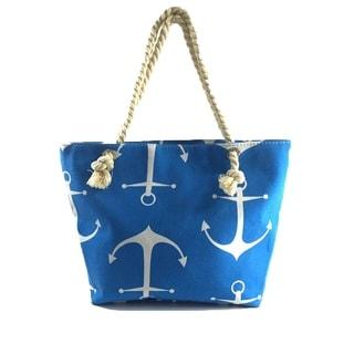 Anchor Print Tote Beach Bag Shopping Bag