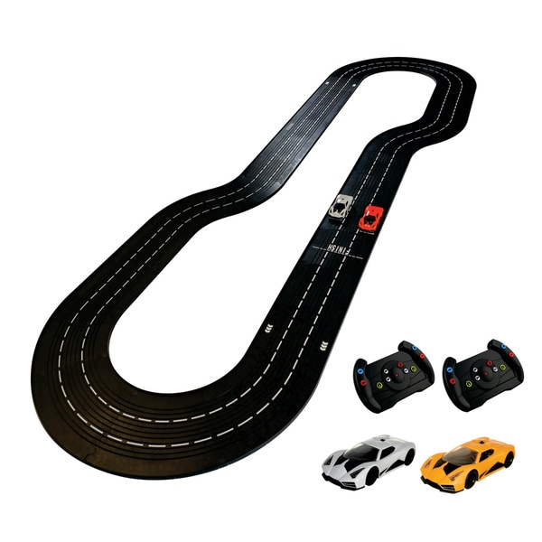 DMXSLOTS DMX Racer G2 Slot Car Racing Package  (5 button steering wheel controller)