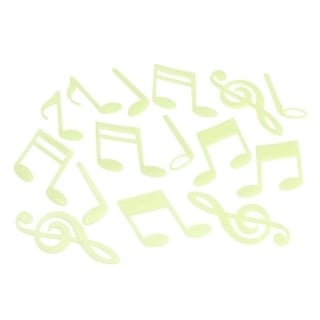 3D Glow in the Dark Wall Stickers Musical Notes Stars Moon Stickers
