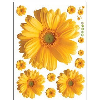Flat Daisy Flower Wall Stickers