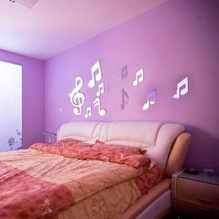 Mirror Musical Notes 3D Wall Stickers