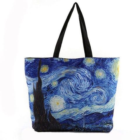 Van Gogh Inspired Starry Night Tote Beach Bag Shopping Bag