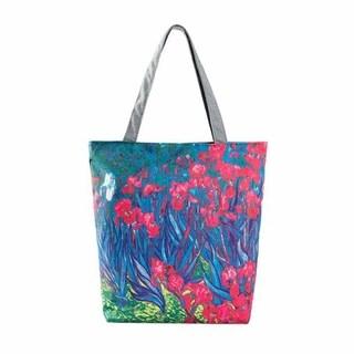 Modern Art Designer Inspired Iris Canvas Tote Beachbag Shopping Bag - Pink