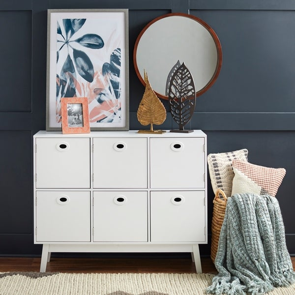 Shop Simple Living Jamie Storage Cabinet Free Shipping