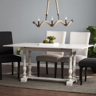 Link to Eddlewood Farmhouse Drop Leaf Trestle Console to Dining Table Similar Items in Dining Room & Bar Furniture