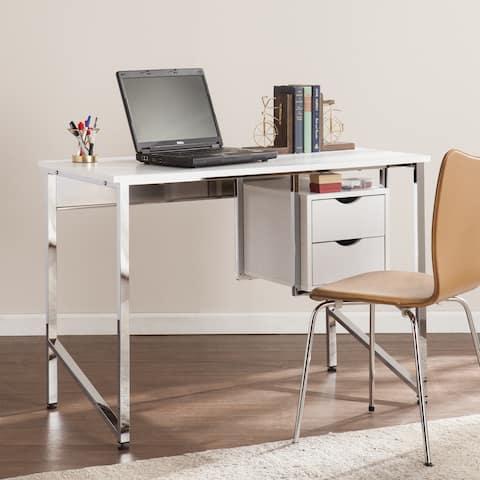Harper Blvd Whitfield Writing Desk - White/Chrome