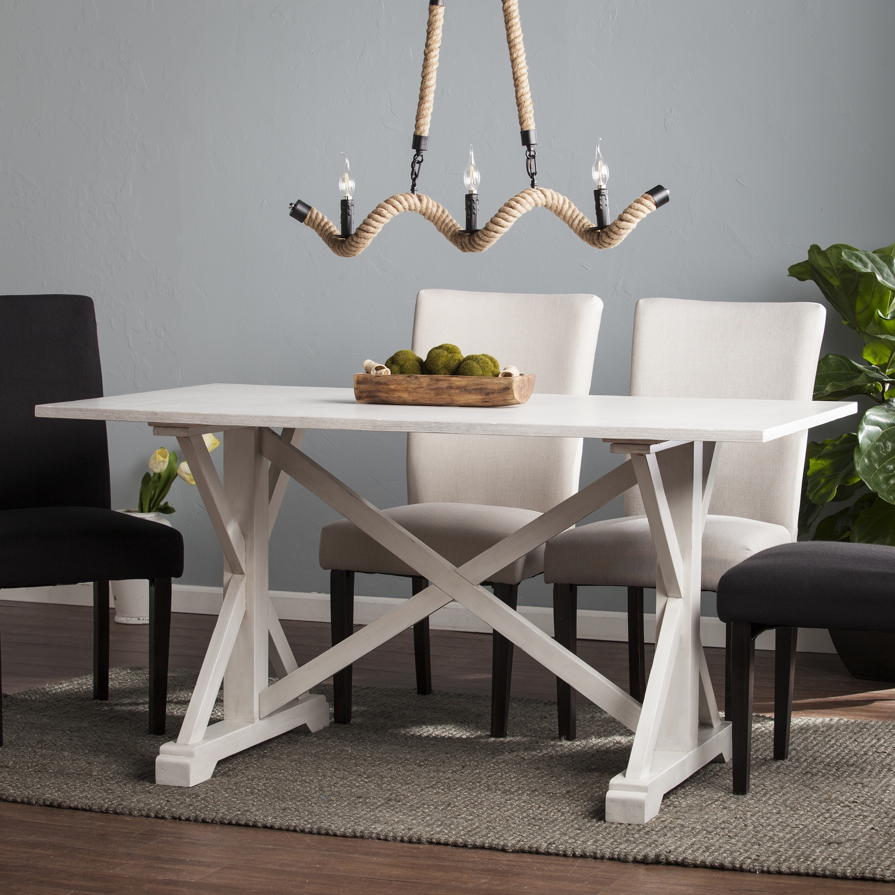 Shop The Gray Barn Oriaga Distressed Farmhouse Dining Table Free