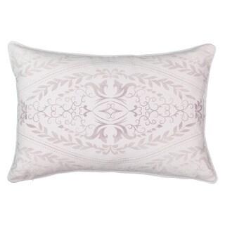 Beautyrest Henriette Ivory Cotton Ombre Motif Decorative Throw Pillow