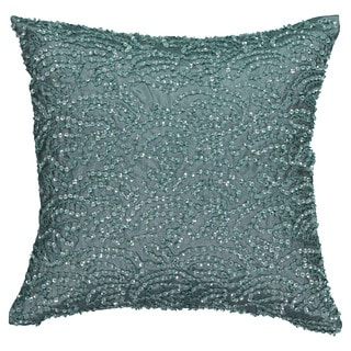Beautyrest Avignon Blue Sequin 14-inch Decorative Throw Pillow