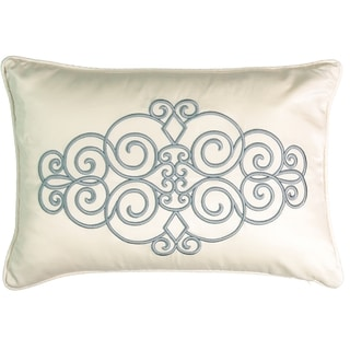 Beautyrest Avignon Ivory Embroidered Decorative Throw Pillow