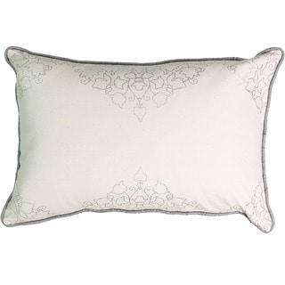 Beautyrest La Salle Taupe Cotton and Foil Print Decorative Throw Pillow