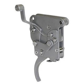 Jewell Triggers Silver Stainless Steel Trigger for Remington 700 722 40X With Right Hand Safety and Bolt Release Lever