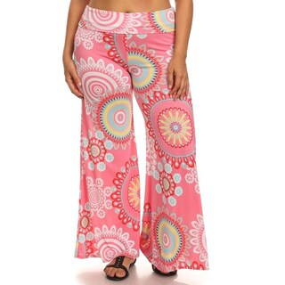 Women's Pink Medallion Pattern Pants