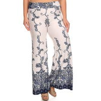 Women's Plus Size Denim Palazzo Pants