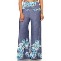 Women's Plus-size Floral Flared Pants