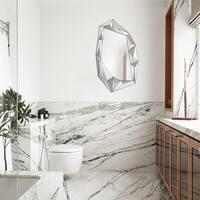 Renwil Daiki Glass Unframed Irregular Wall Mirror