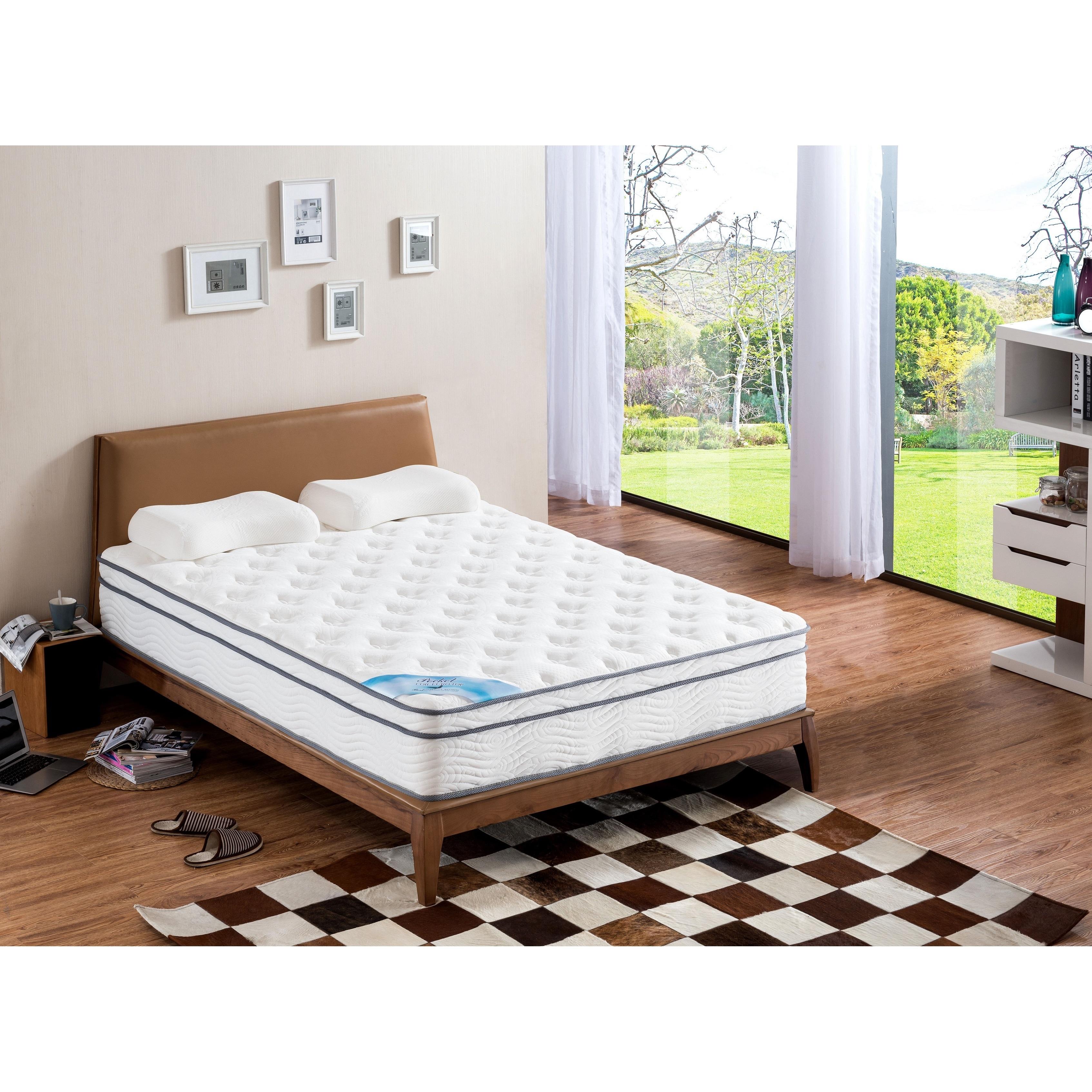 Pillow Top Full-size Pocket Spring Mattress - White (Full)