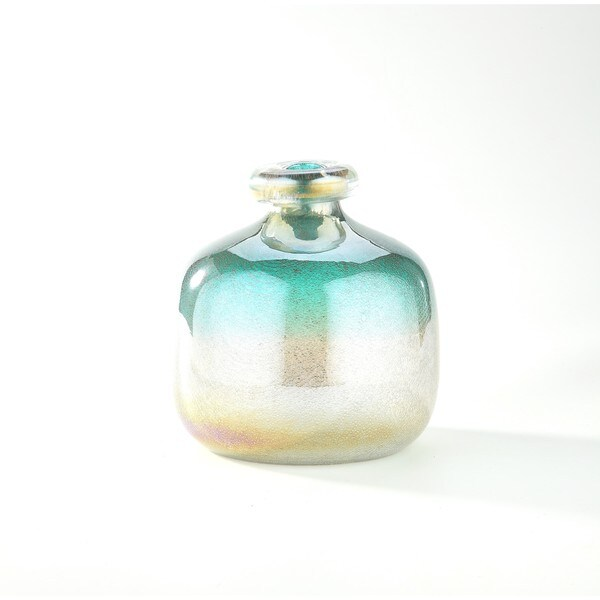 Multicolored Glass Art Jug Vase