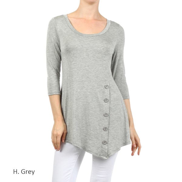 9185e8b92 Grey Tops | Find Great Women's Clothing Deals Shopping at Overstock