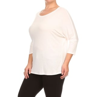 Women's Ivory Plus-size Dolman Top