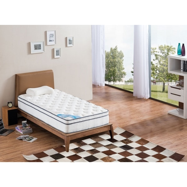 shop pillow top twin size pocket spring mattress free shipping today 14516978. Black Bedroom Furniture Sets. Home Design Ideas