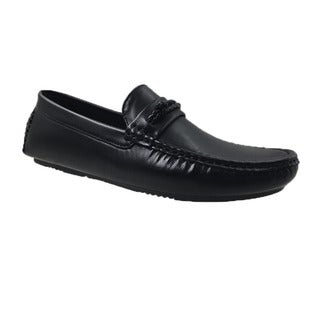 Andrew Fezza Black Slip-on Loafer Driver Shoes