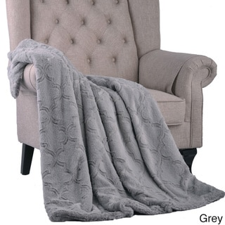 BOON Brushed Faux Fur Ashley Throw with Sherpa and Borrego Backing