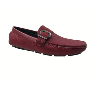 Mecca Men's Red Slip-on Loafer Driver Shoes