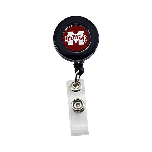 Mississippi State Bulldogs Retractable Badge Reel ID Ticket Clip